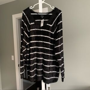 Black Stripes Sweater